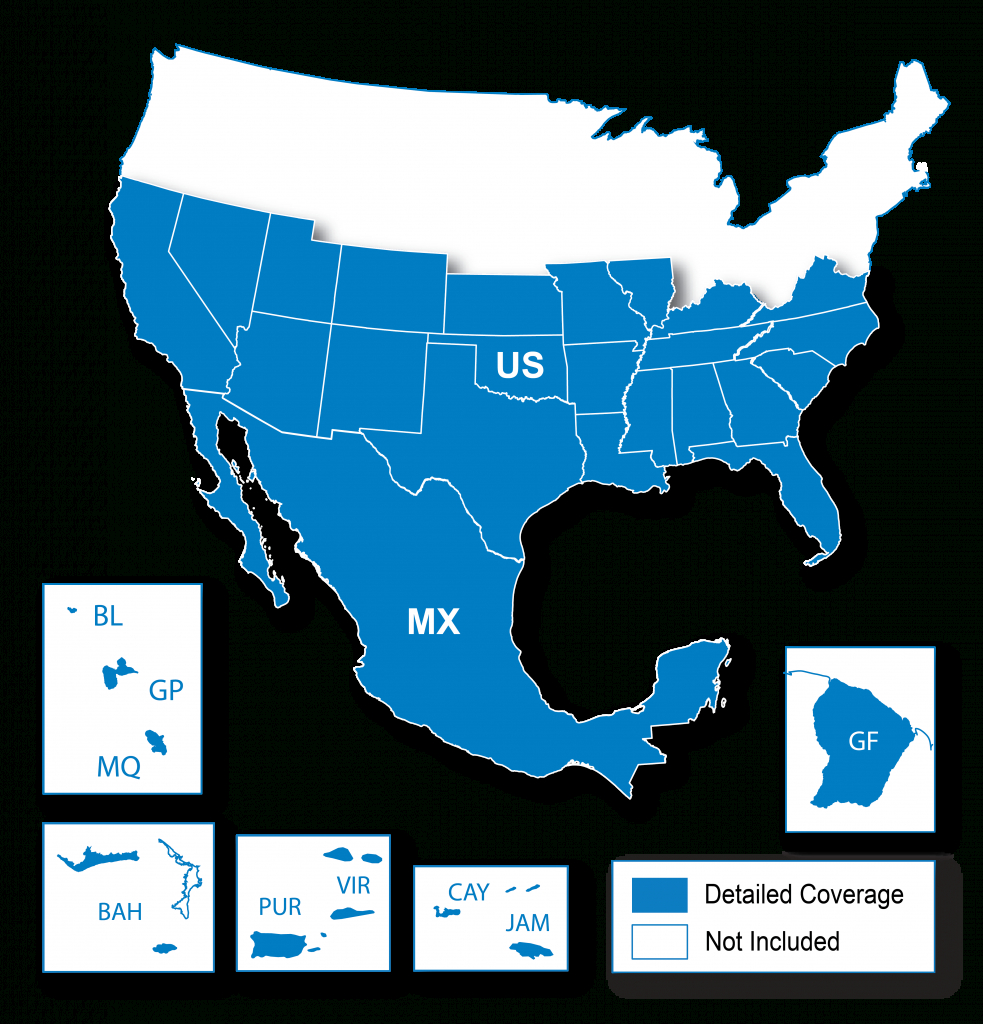 North American Map Regions | Garmin Support - Garmin California Map