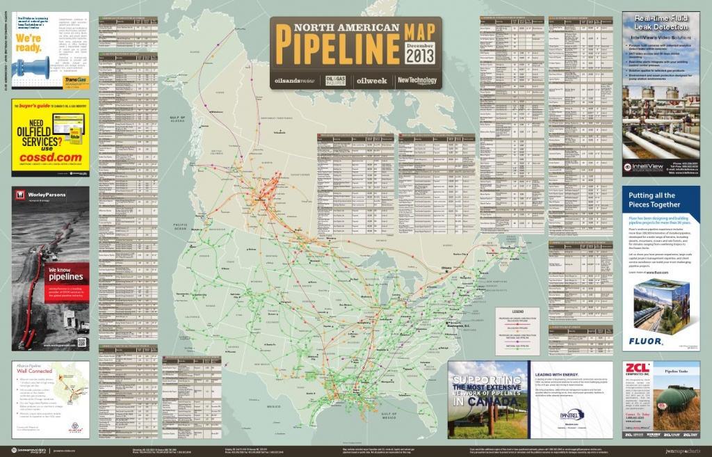 North American Pipeline Map December 2013 - Oneok Pipeline Map Texas