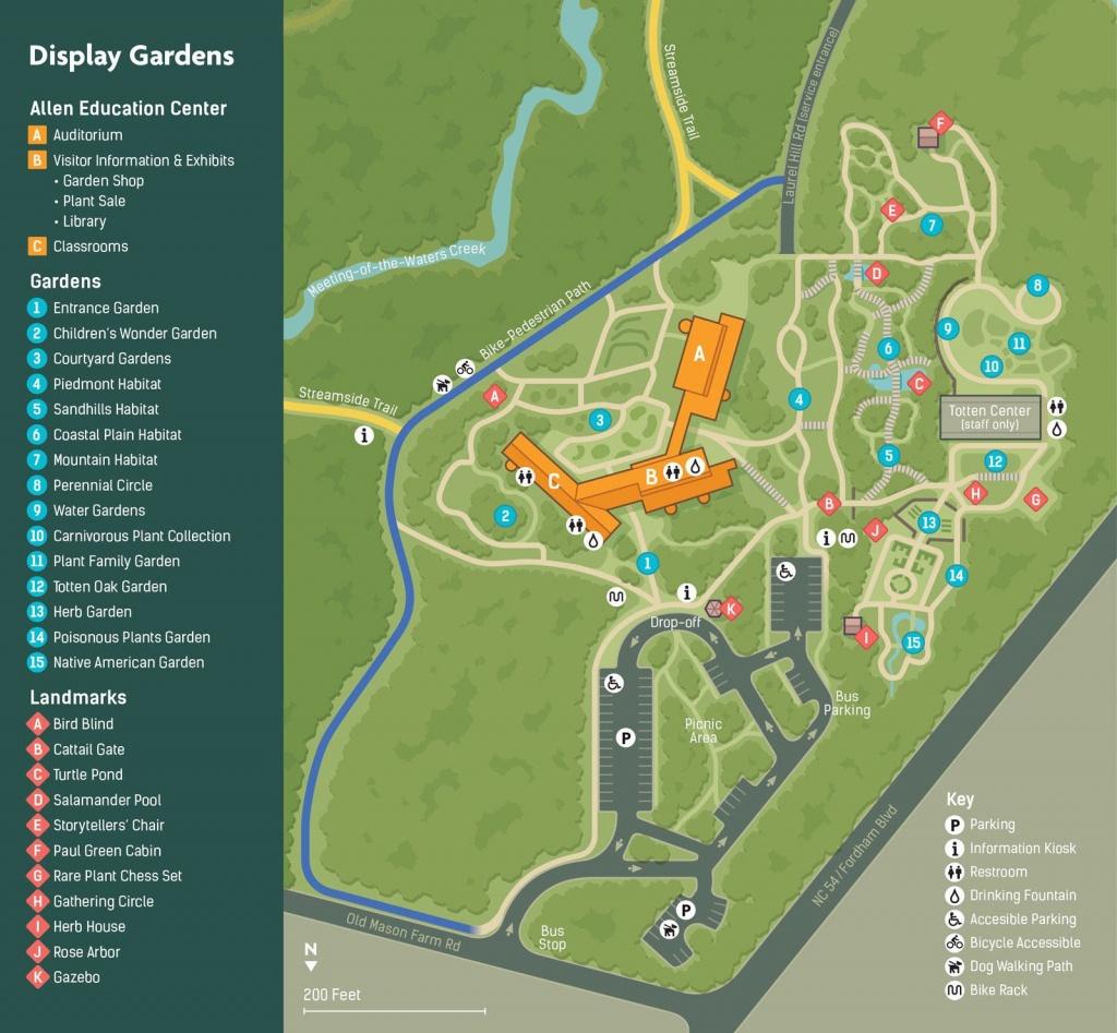 North Carolina Botanical Garden Map   Park Design   Florida - Florida Botanical Gardens Tourist Map