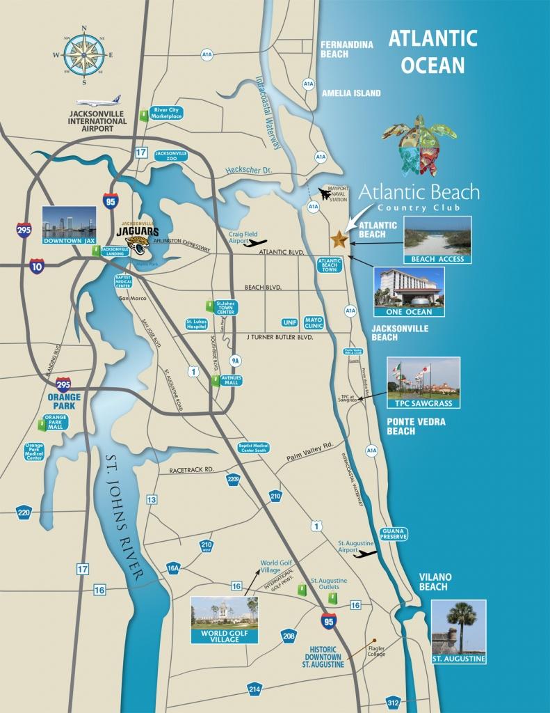North Florida Map - Atlantic Beach Country Club   Jacksonville - Florida North Map