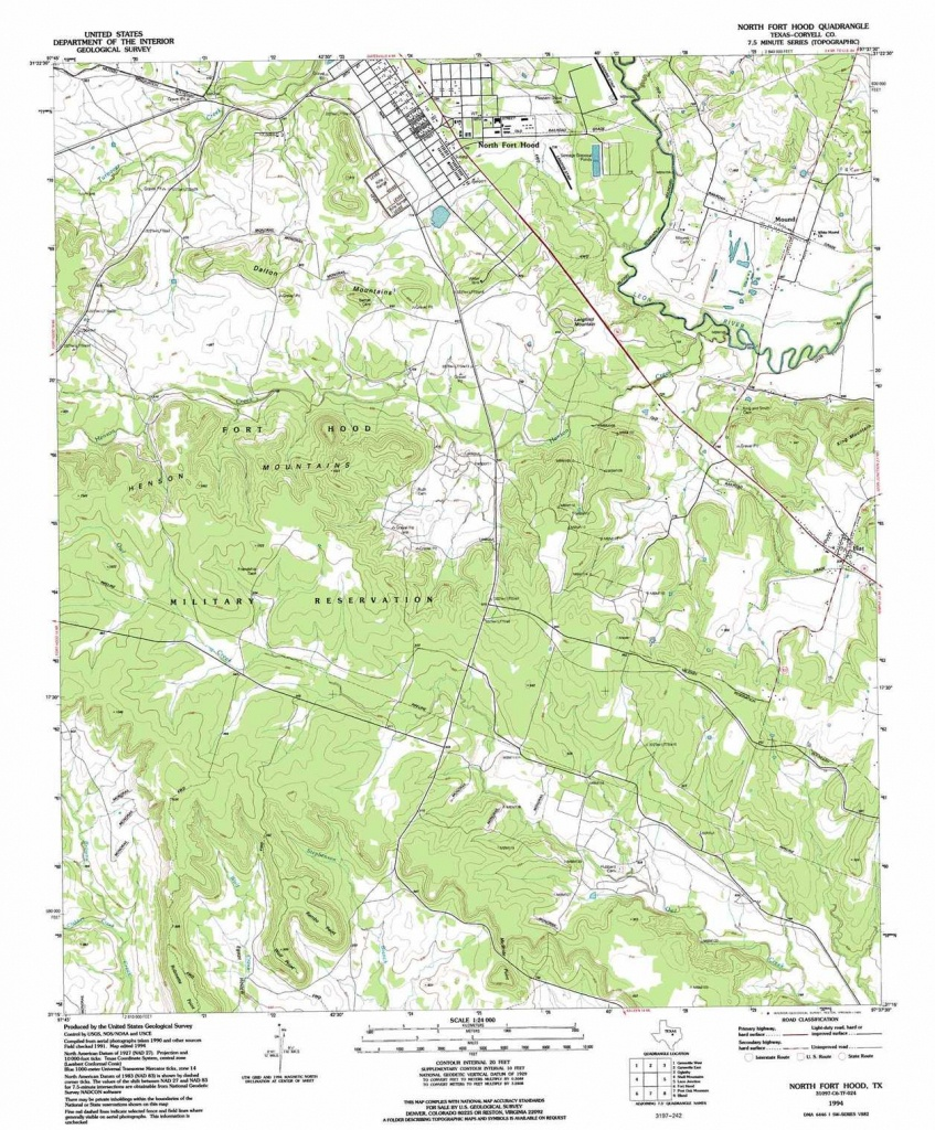 North Fort Hood Topographic Map, Tx - Usgs Topo Quad 31097C6 - Fort Hood Texas Map