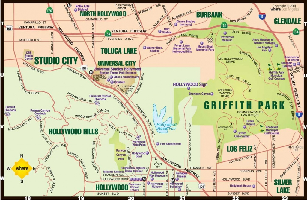 North Hollywood Ca Map Large | D1Softball - Map Of West Hollywood California