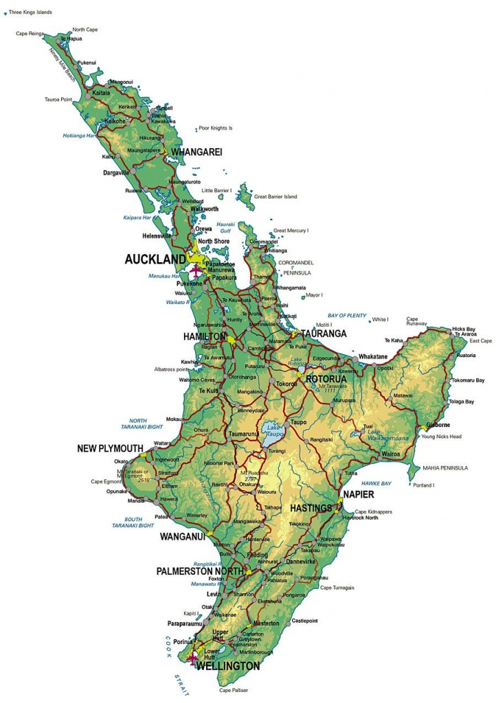 North Island New Zealand | Large Zoom In Map Of Nz | Nature In 2019 - New Zealand South Island Map Printable