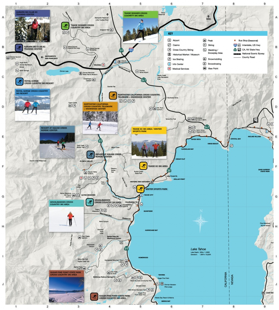 North Lake Tahoe Maps - Go Tahoe North - Map Of Lake Tahoe Area California