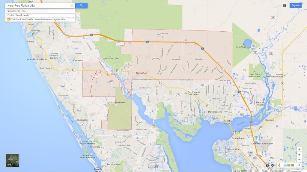 North Port Florida Map - North Port Florida Map