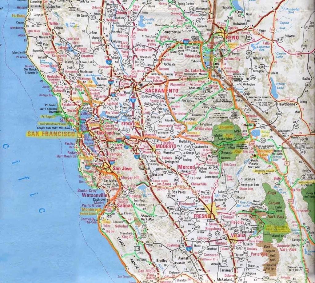 Northern Californi Highway Map Of Northern California Detail Map Of - Driving Map Of Northern California