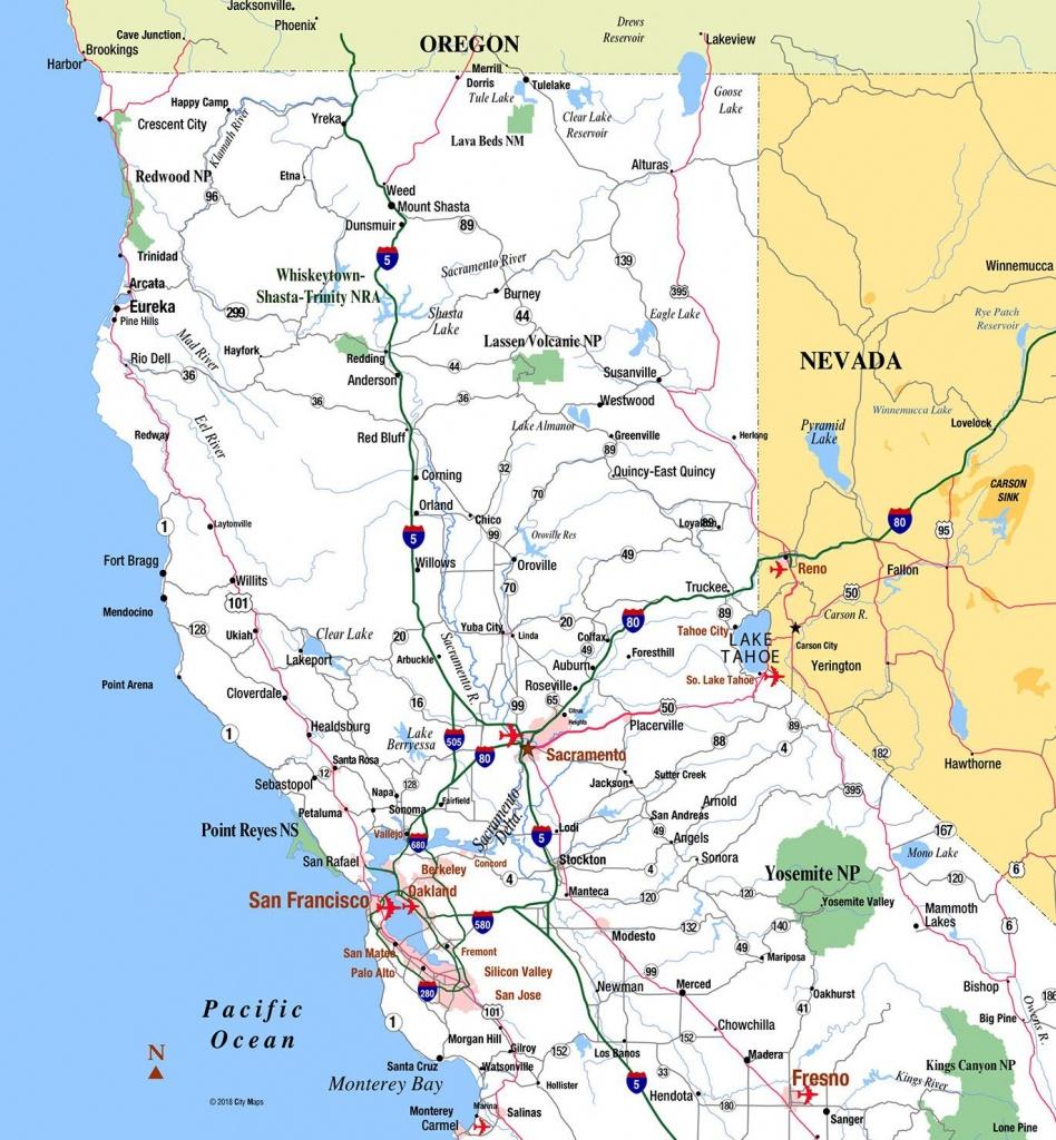 Northern California - Aaccessmaps - Southern California Road Map Pdf