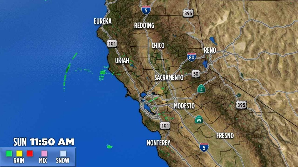 Northern California | Abc7News - California Weather Map