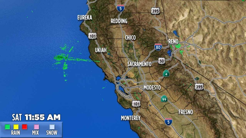 Northern California   Abc7News - Current Weather Map California