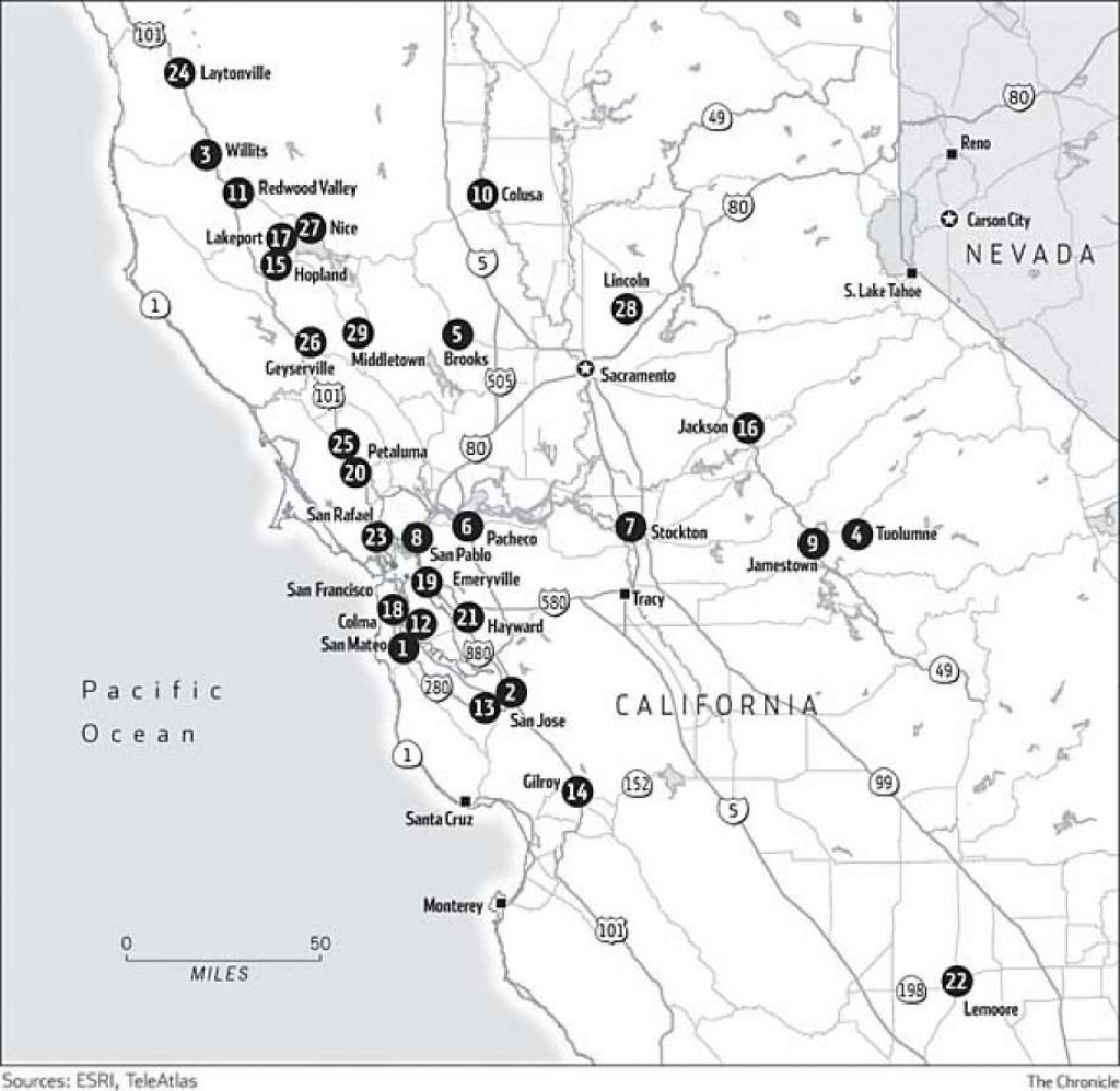 Northern California Casinos - Sfgate - Northern California Casinos Map