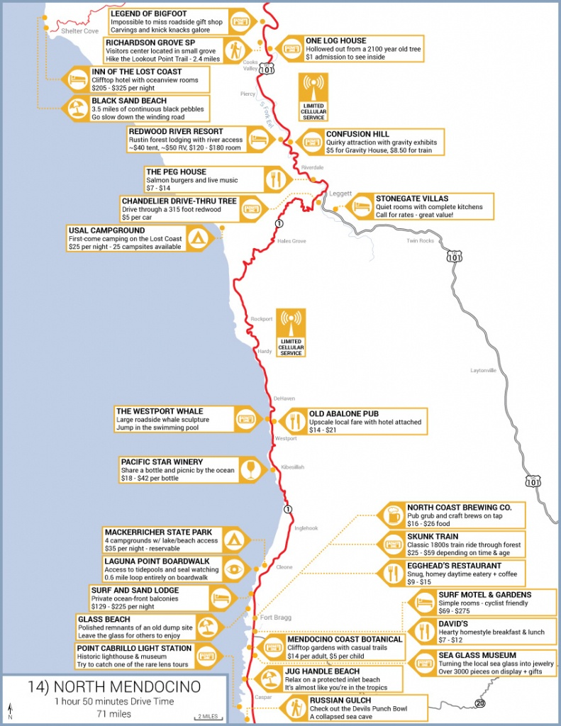 Northern California Highway 1 Road Trip Guide - Map Of Pch 1 In California