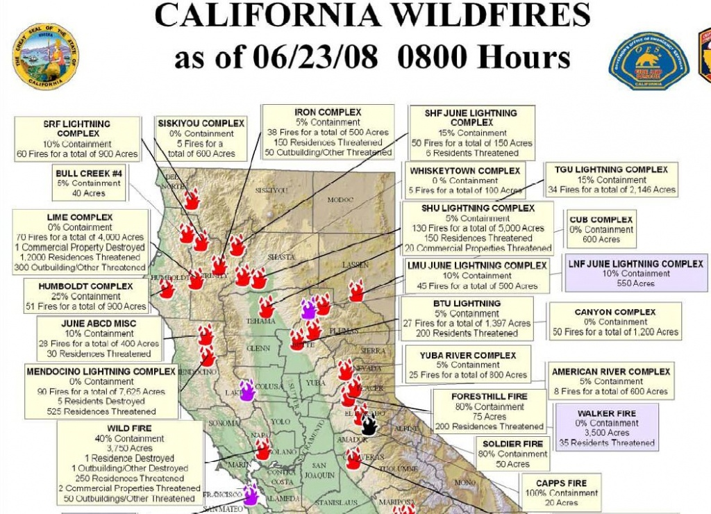 Northern California Wildfire Map   Highboldtage - Active Fire Map For California