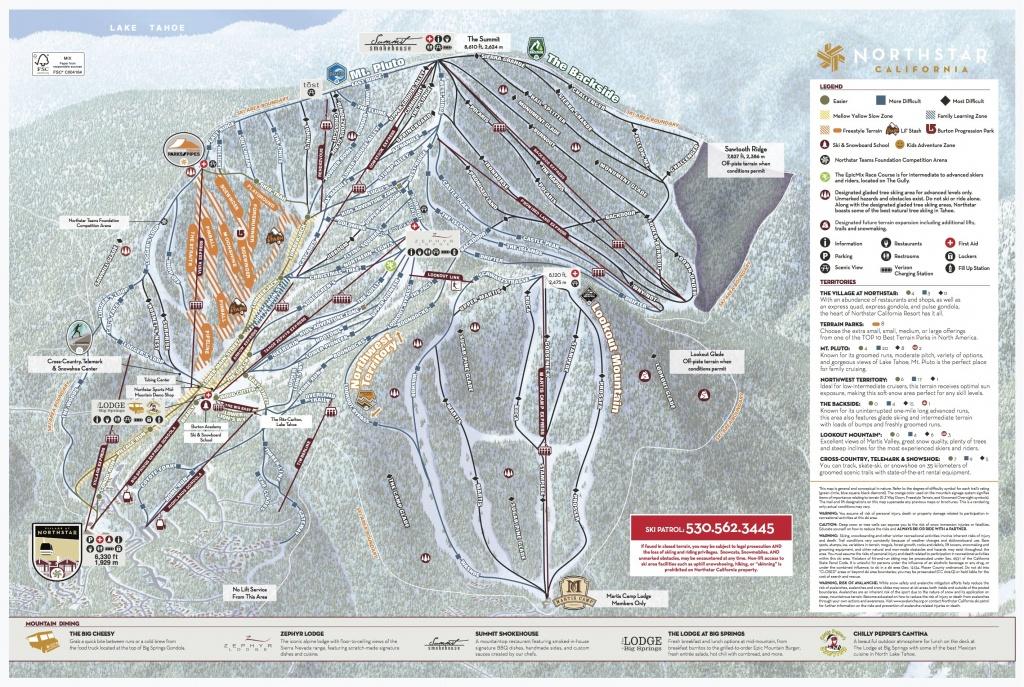 Northstar California Trail Map | Onthesnow - California Trail Map