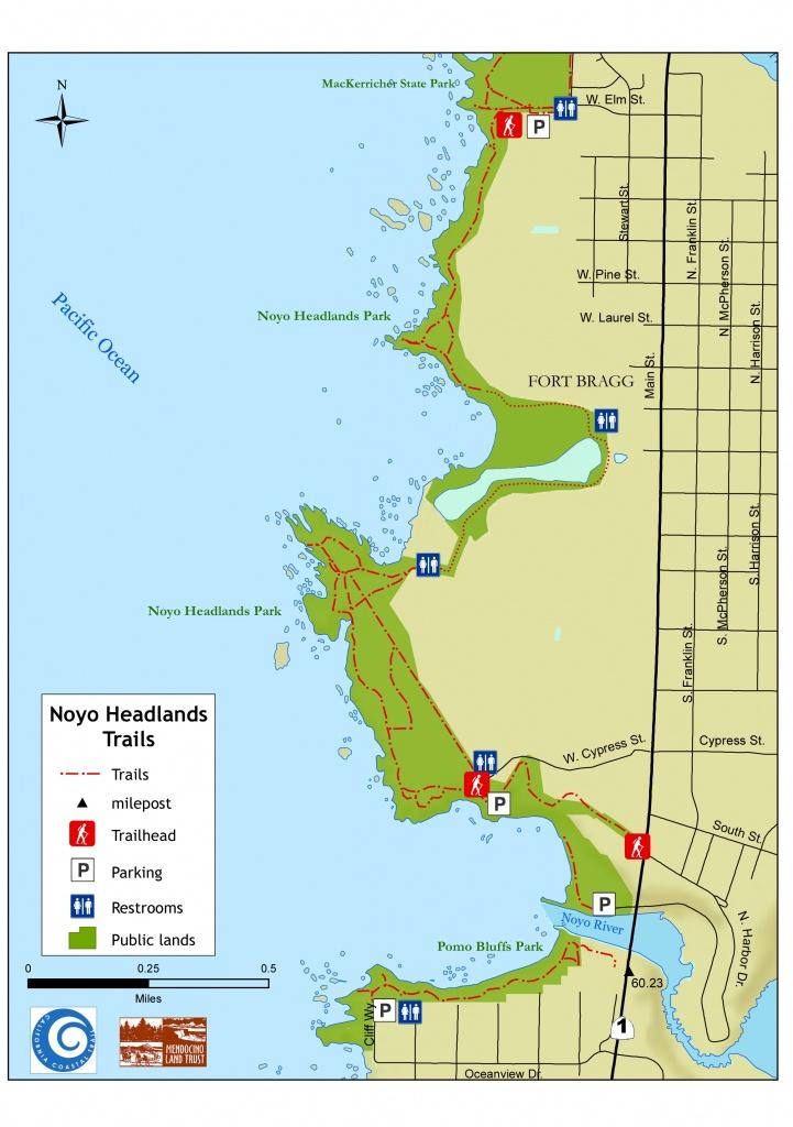 Noyo Headlands Coastal Trail - Northern Coastal Trails - Mendocino - California Coastal Trail Map