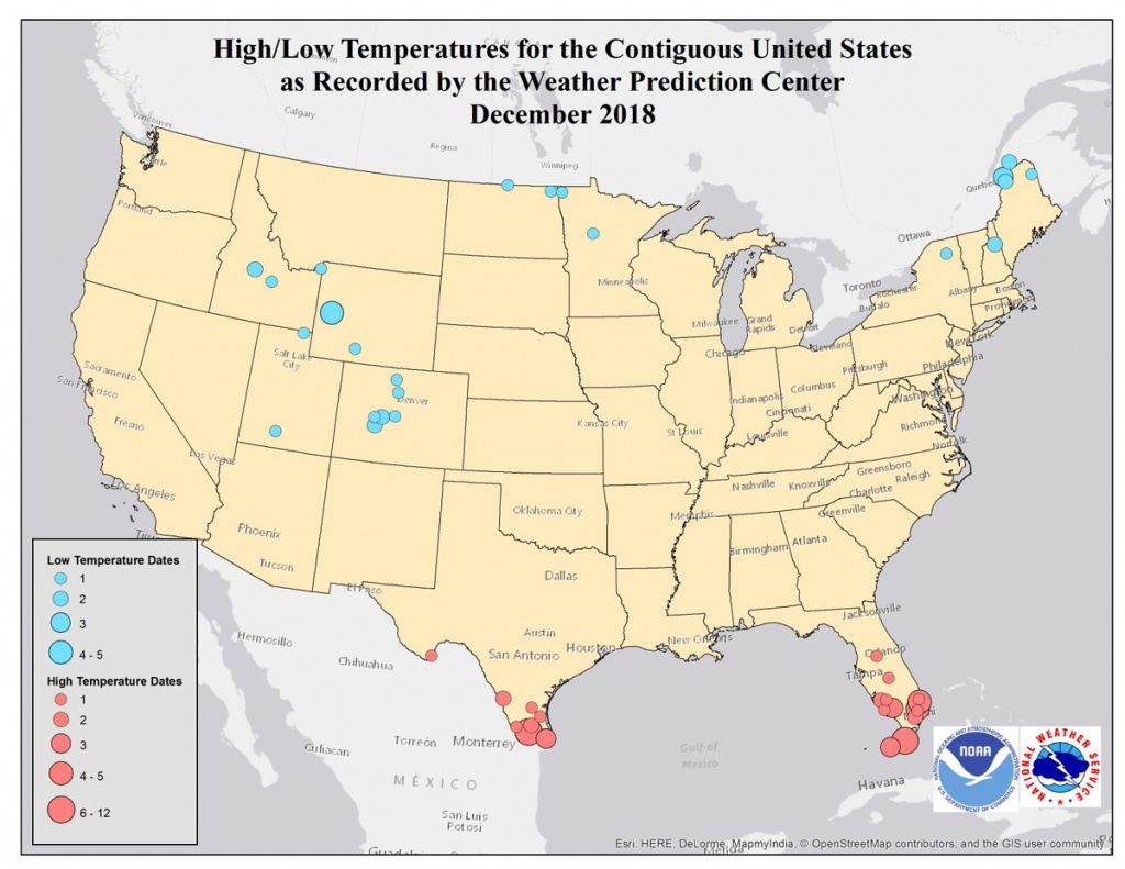 "Nws Wpc On Twitter: ""our National High/low Graphics Have Been - Top Spot Maps Texas"
