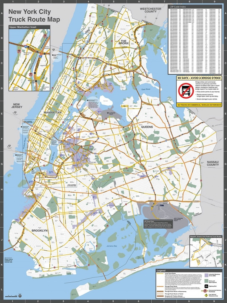 Nyc Dot - Trucks And Commercial Vehicles - California Truck Routes Map