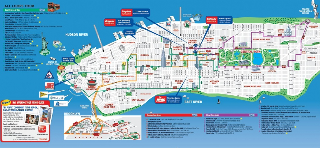 Nyc Walking Tourist Map - Nyc Walking Map Printable (New York - Usa) - Nyc Walking Map Printable