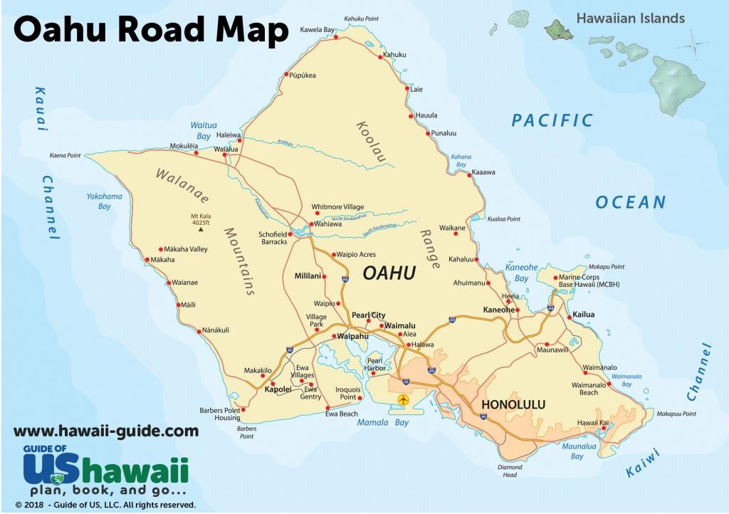 Oahu Maps - Printable Driving Map Of Kauai