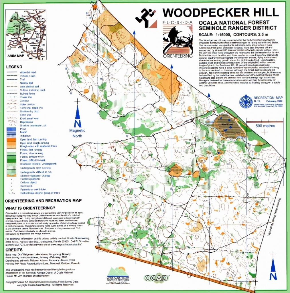 Ocala National Forest Trail Map Luxury Florida Orienteering Of Ocala - National Forests In Florida Map