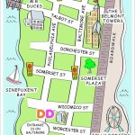 Ocean City, Md Discovery Map Style | Fun Business Map | How To Draw   Printable Street Map Ocean City Nj