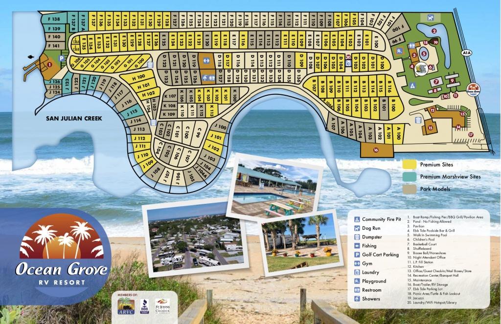 Ocean Grove Rv Resort - St. Augustine, Fl - St Augustine Florida Map