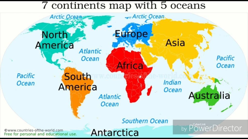 Ocean In The World Map 19 With Oceans 6 - World Wide Maps - Printable Map Of The 7 Continents And 5 Oceans