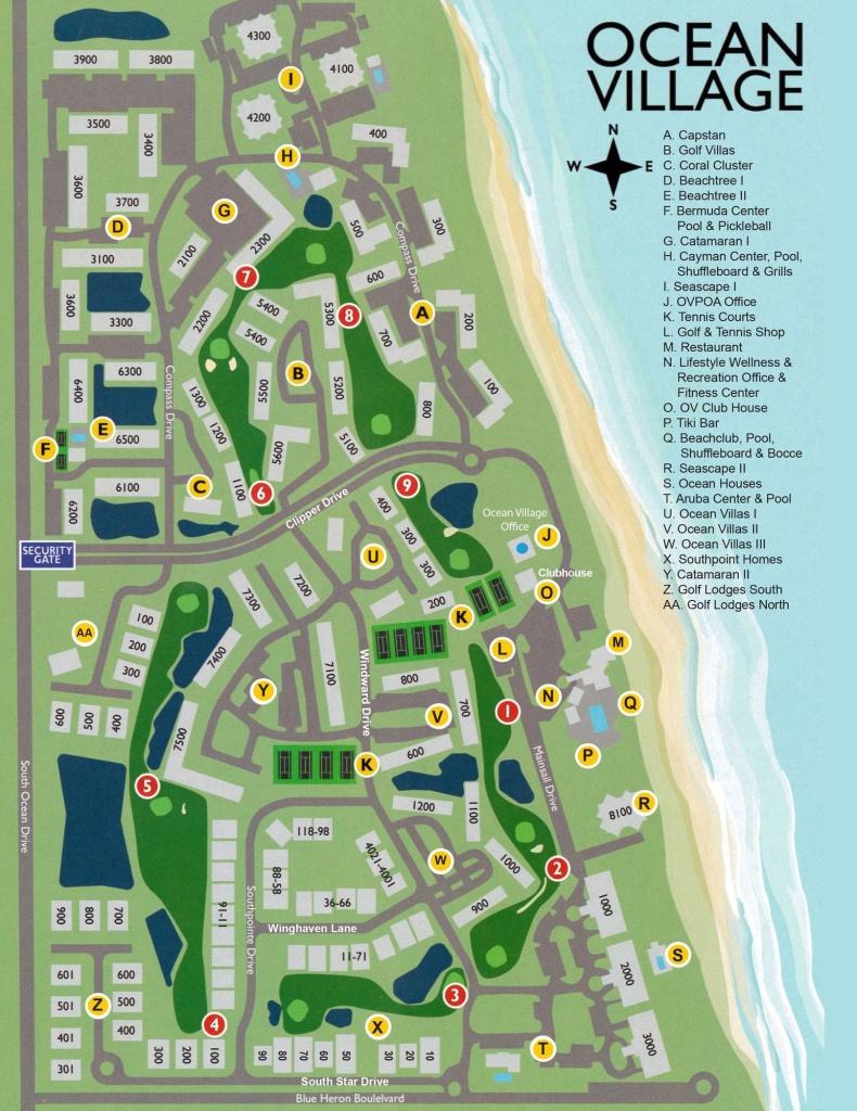 Ocean Village On Hutchinson Island - Hutchinson Florida Map