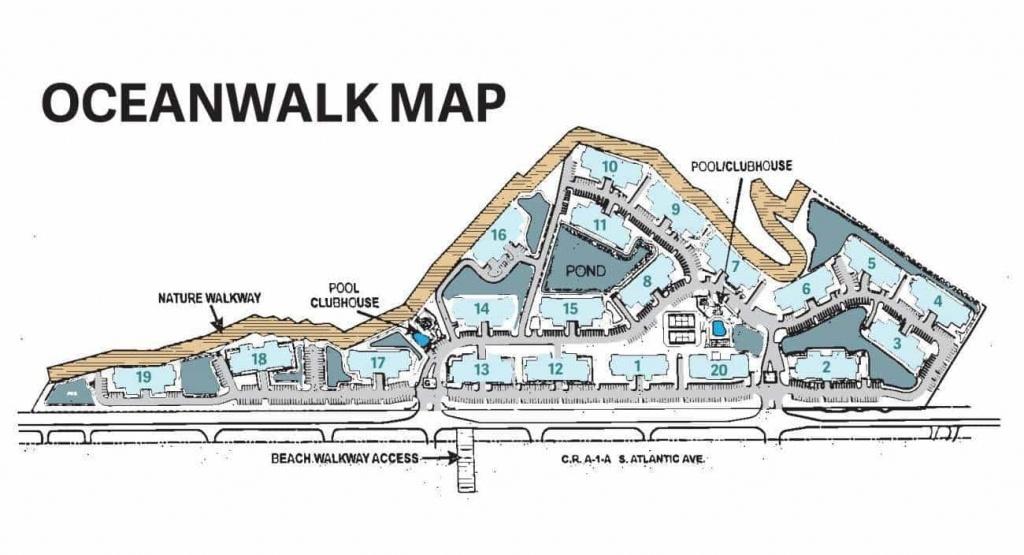 Oceanwalk Vacation Rentals In New Smyrna Beach | Goc - New Smyrna Beach Florida Map
