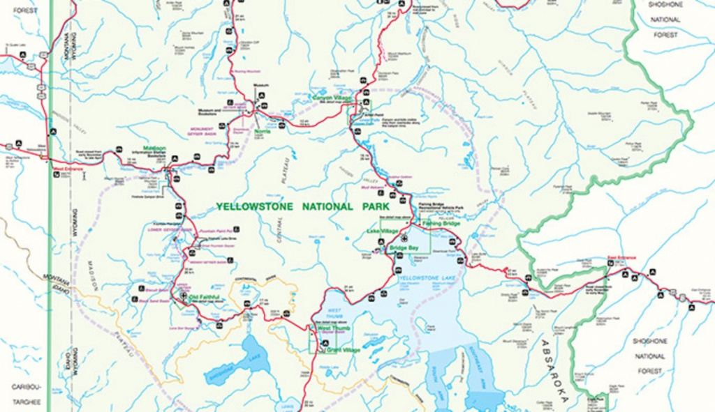 Official Yellowstone National Park Map Pdf - My Yellowstone Park - Free Printable Map Of Yellowstone National Park