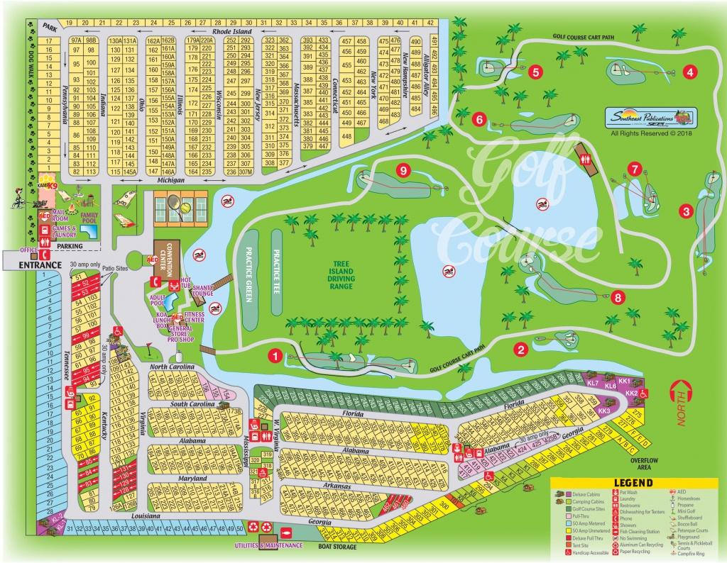 Okeechobee, Florida Campground | Okeechobee Koa - Florida Campgrounds Map