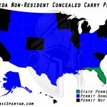 Oklahoma State Bureau Of Investigation Reciprocity Within Colorado   Florida Non Resident Ccw Reciprocity Map