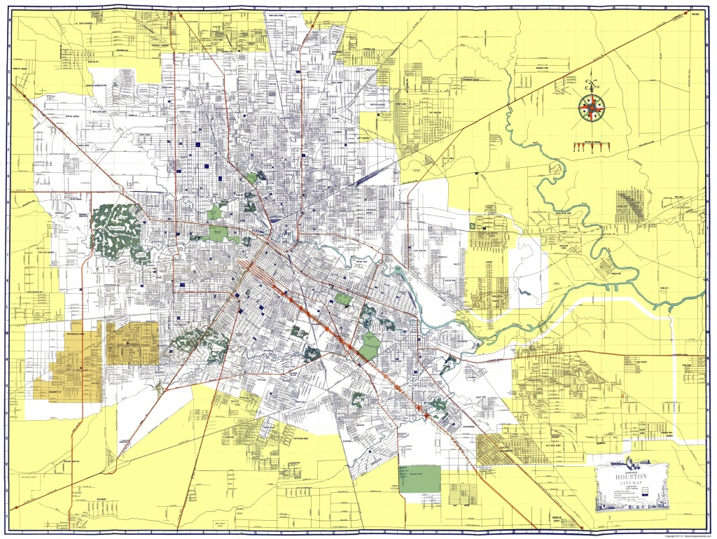 Old City Map - Houston Texas - Ashburn 1950 - Houston Texas Map