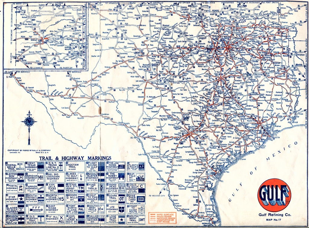 Old Highway Maps Of Texas - North Texas Highway Map