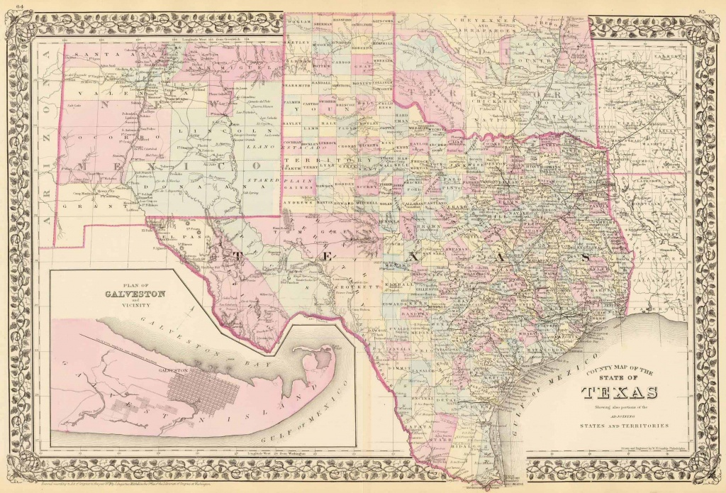 Old Historical City, County And State Maps Of Texas - Texas Historical Maps For Sale