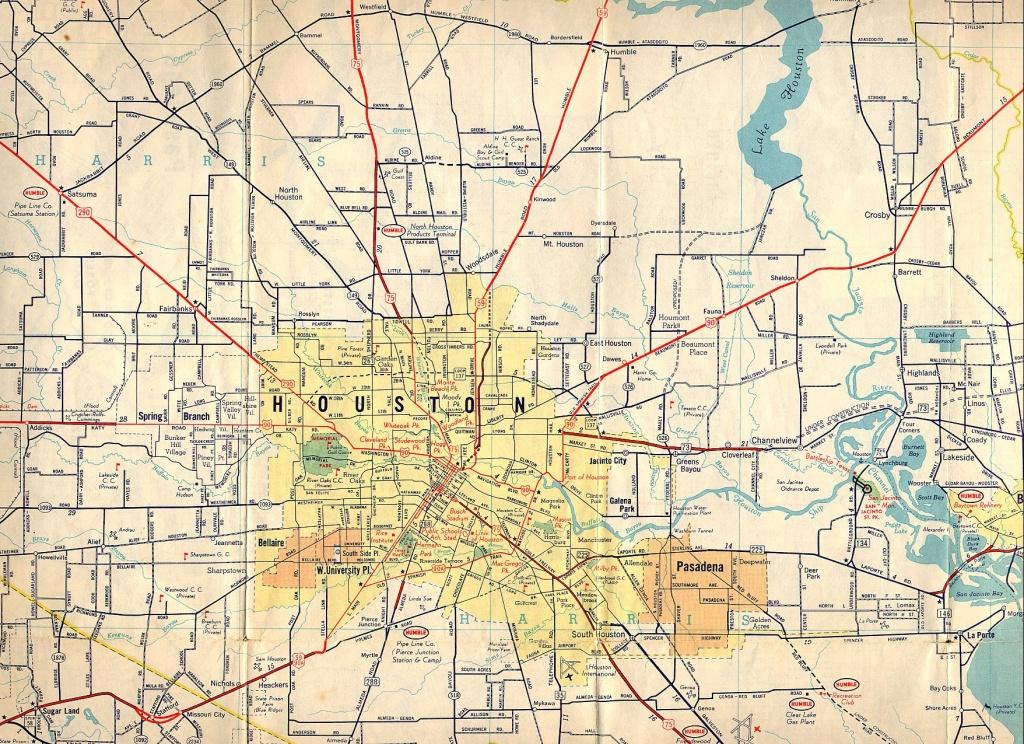 Old Houston Maps | Houston Past - Houston Texas Map