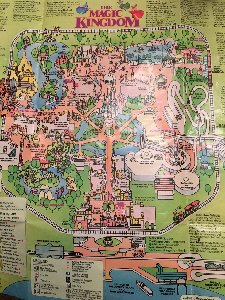 Old Magic Kingdom Map I Found : Waltdisneyworld - Magic Kingdom Orlando Florida Map