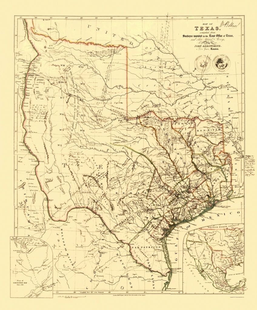 Old State Map - Republic Of Texas - Arrowsmith 1841 - 23 X 27.78 - Republic Of Texas Map