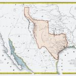 Old State Map   Texas Republic And Adjacent Countries 1844   23 X 35   Republic Of Texas Map