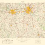 Old Topographical Map   Dallas Texas 1963   Dallas Map Of Texas