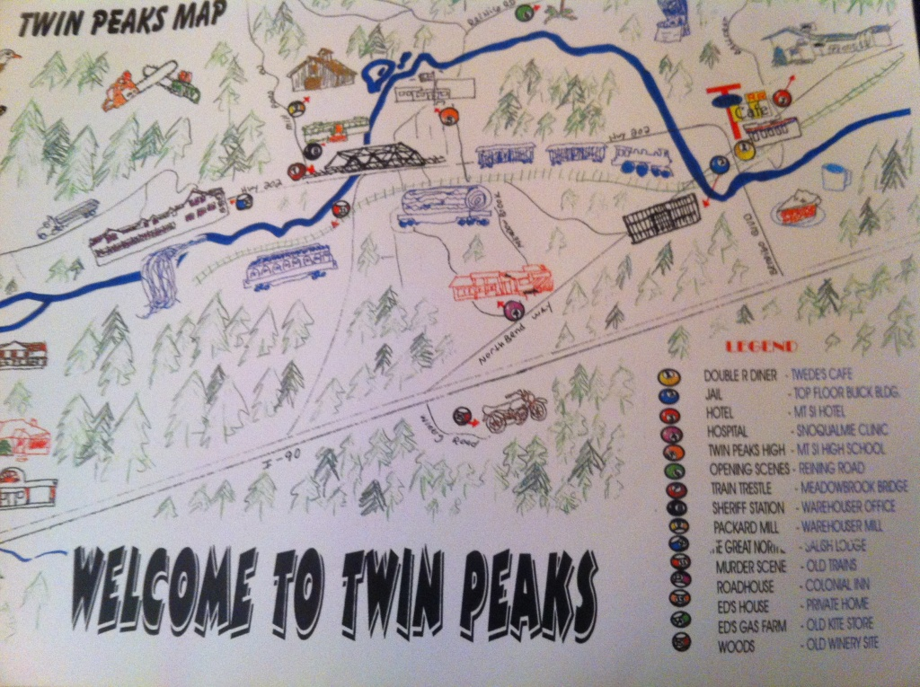 """One Chants Out Between Two Worlds"""": Visiting Twin Peaks And Twin - Twin Peaks California Map"""