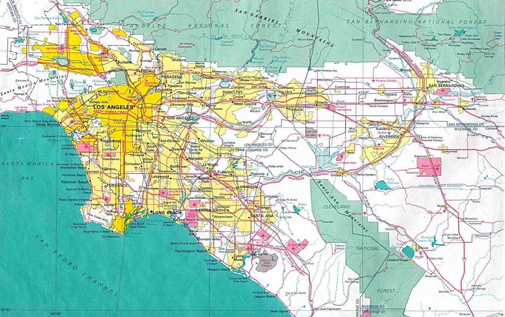 Online Maps: Los Angeles Area Map - Map Of Los Angeles California Area
