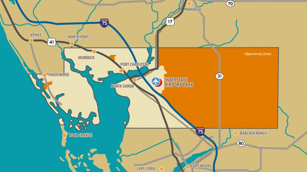 Opportunity Zones | Charlotte County Florida Economic Development - Englewood Florida Map