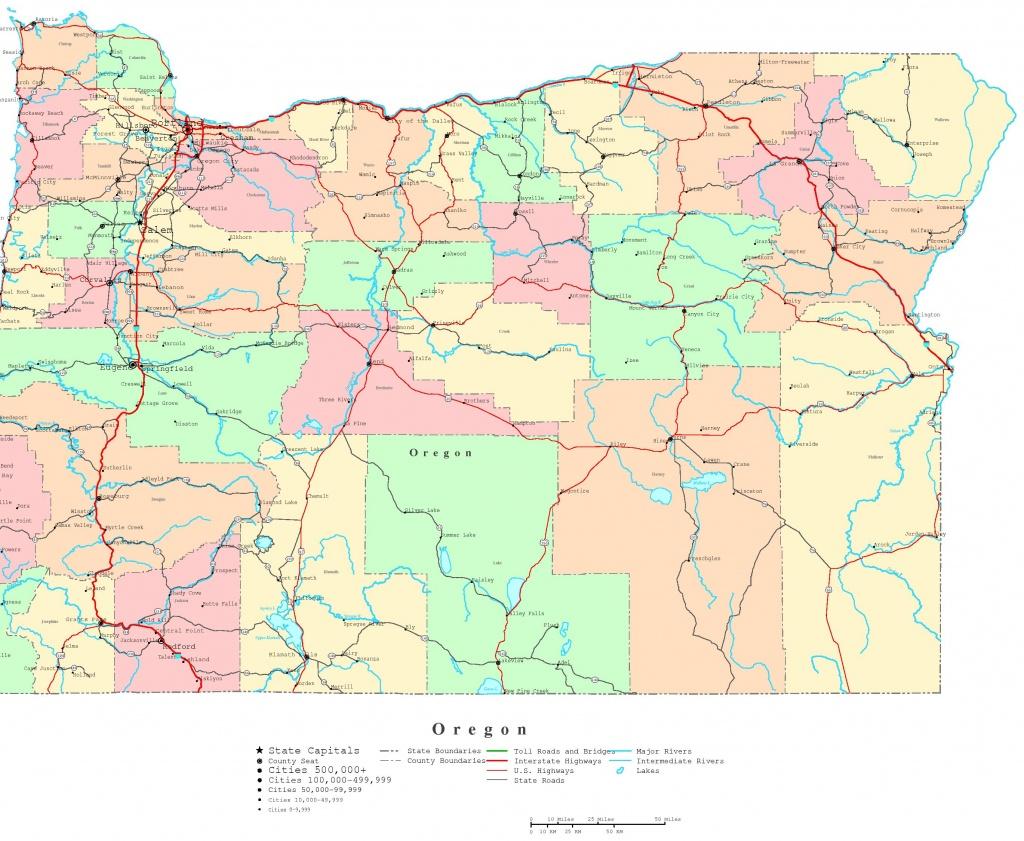 Oregon Printable Map Valid Map Of Printable Maps Of Oregon Marvelous - Printable Map Of Oregon