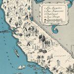 Original 1931 California Map Vintage Picture Map Antique Map | Etsy   Antique Map Of California