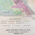 Original Florida Map Of New Smyrna Beach Ponce Inlet Us Dept   Smyrna Beach Florida Map