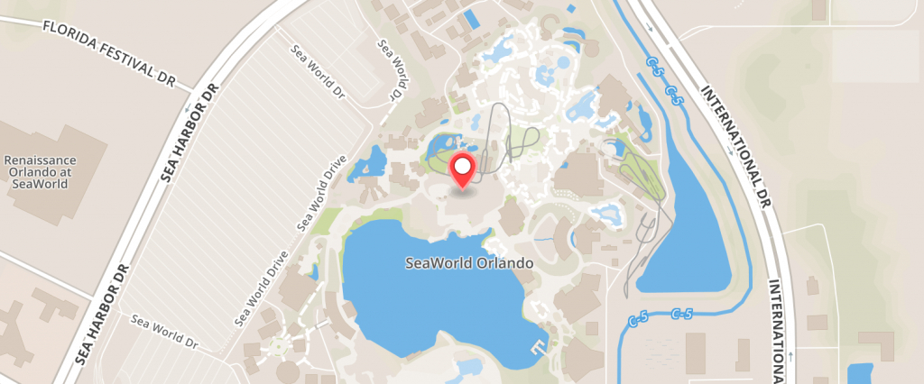 Orlando Attraction Combo (Seaworld, Aquatica Water Park, Tampa Busch - Sea World Florida Map