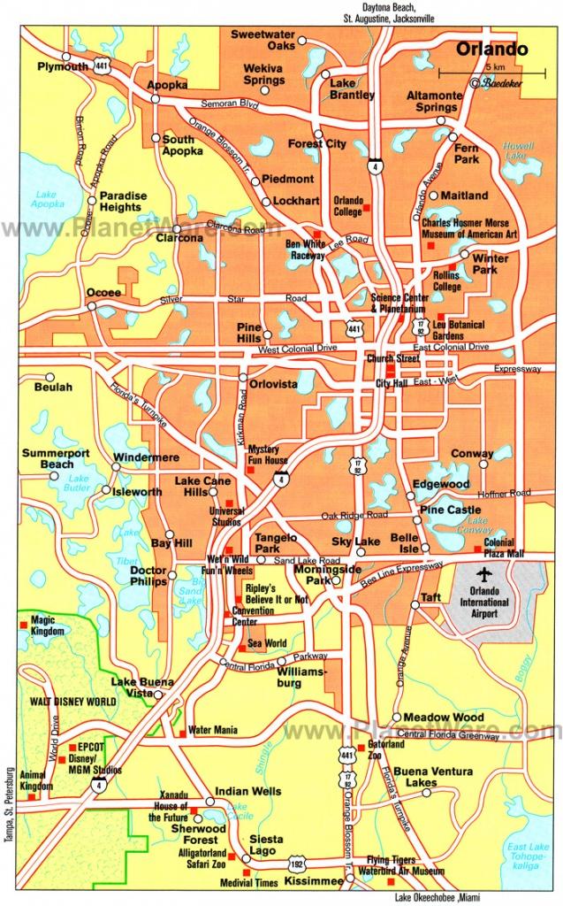 Orlando Cities Map And Travel Information   Download Free Orlando - Road Map Of Orlando Florida