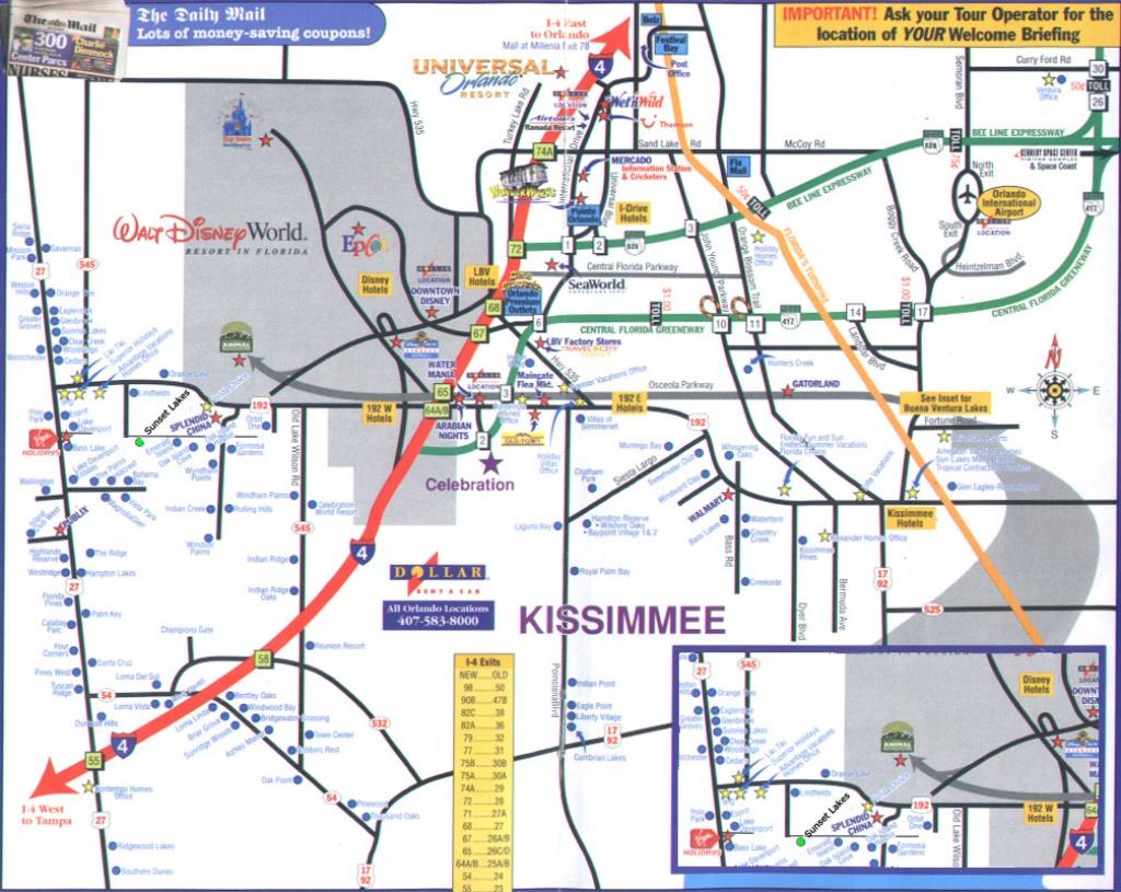 Orlando Florida Street Map And Travel Information | Download Free - Road Map To Orlando Florida