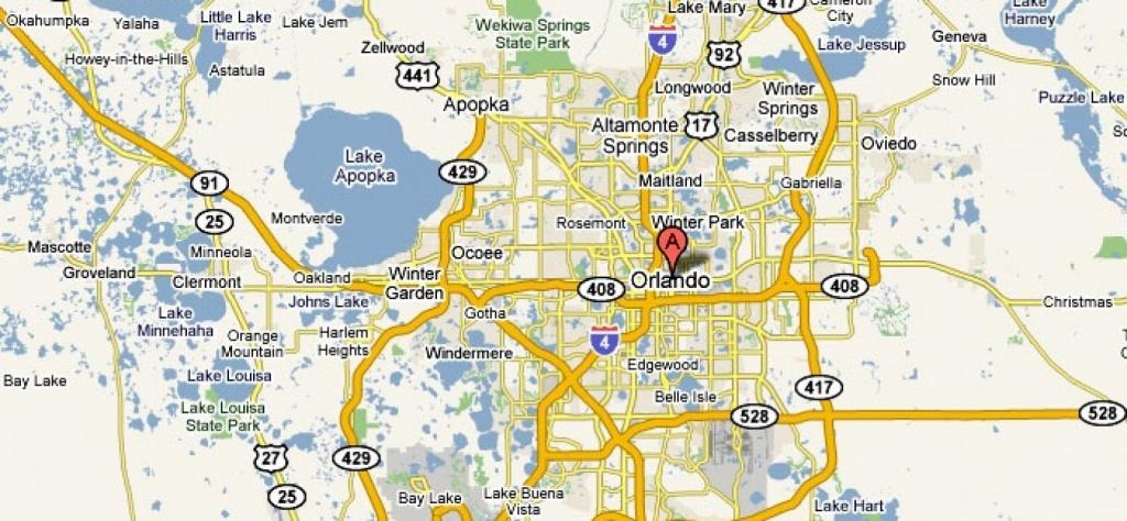 Orlando, Florida – Usa | Travel Featured - Road Map To Orlando - Road Map To Orlando Florida