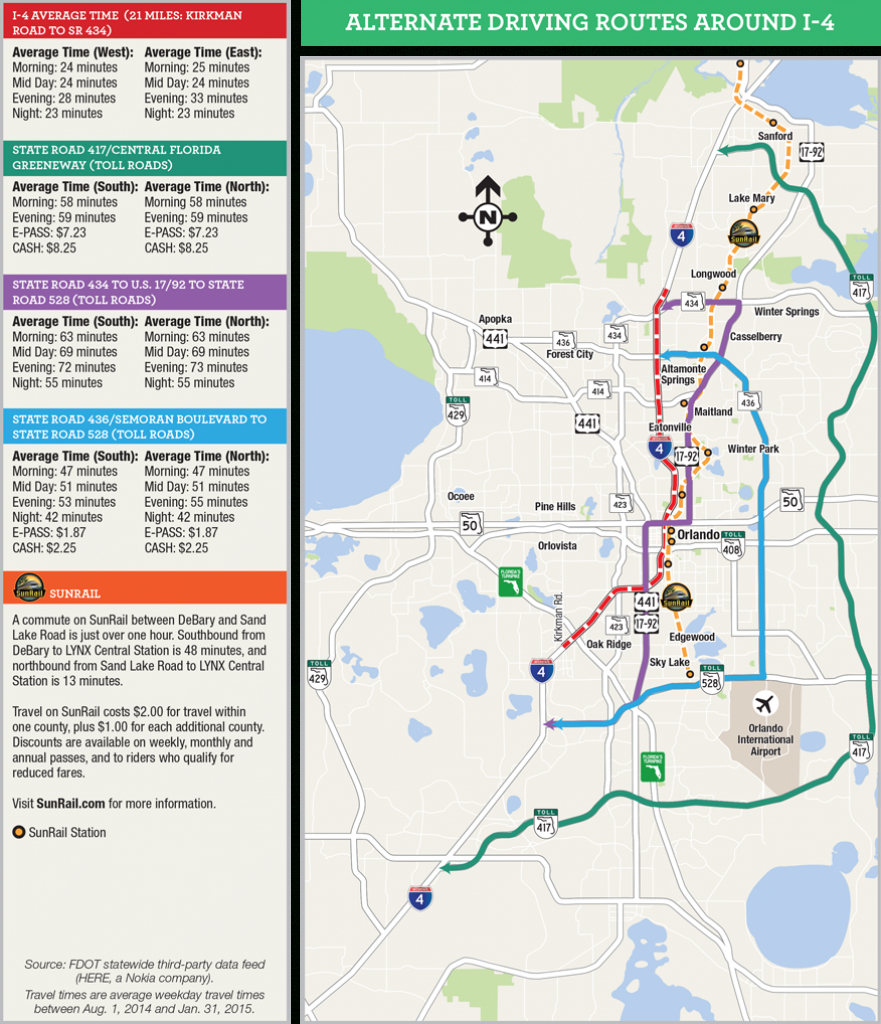 Orlando Map Florida Attractions 19 Of Central Roads | Sitedesignco - Central Florida Attractions Map